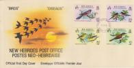 FDC NOUVELLES HEBRIDES 27.02.1980 - Oiseaux - FDC
