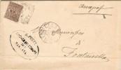 15235. Carta Entera Oficial  BARBATA (bergamo) Italia 1909. Fechador Antegna - 1900-44 Vittorio Emanuele III