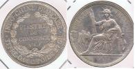FRANCIA FRANCE INDOCHINA VIETNAM PIASTRA 1908 PLATA SILVER T BONITA - Vietnam