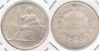 FRANCIA FRANCE INDOCHINA VIETNAM PIASTRA 1921 PLATA SILVER T BONITA - Vietnam