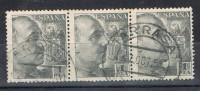 Trio Sellos 1 Pta Caudillo, Fechador TARRASA (Barcelona) Num 1056 º - 1931-Today: 2nd Rep - ... Juan Carlos I