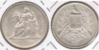 GUATEMALA PESO 1894  PLATA SILVER T PRECIOSA - Guatemala