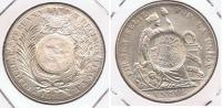 GUATEMALA PESO 1894 SOBRE SOL 1888 PLATA SILVER T PRECIOSA - Guatemala