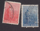 Argentina, Scott #177-178, Used, Agriculture, Issued 1911 - Used Stamps