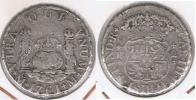 MEXICO CARLOS III 2 REALES 1761 PLATA SILVER T - México