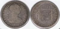 MEXICO CARLOS III 2 REALES 1786 PLATA SILVER T - México