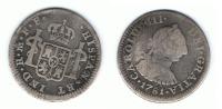 MEXICO CARLOS III MEDIO REAL 1781 PLATA SILVER T - México