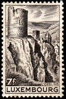 LUXEMBOURG - Scott #246 Esch-sur-Sûre Fortifications / Mint LH Stamp - Luxembourg
