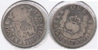 MEXICO FERNANDO VI 2 REALES 1753 PLATA SILVER T - México