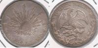 MEXICO ZACATECAS 4 REALES 1869 PLATA SILVER T - México