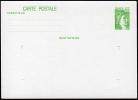 B-004F- Carte Postale Type Sabine 1f Vert, N° 1973-CP1 - Ganzsachen