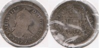 PERU LIMA CARLOS III  REAL 1776 PLATA SILVER T - Perú