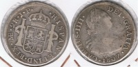 PERU LIMA CARLOS IIII 2 REALES 1807 PLATA SILVER T - Perú