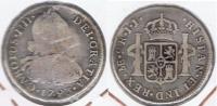 PERU LIMA CARLOS IIII 2 REALES 1893 PLATA SILVER T - Perú