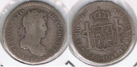 PERU LIMA FERNANDO VII  REAL 1819 PLATA SILVER T - Perú