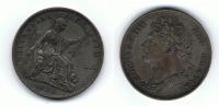 R.U. INGLATERRA JORGE IIII  FARTHING 1826  T MUY BONITA - 1816-1901 : Acuñaciones S. XIX