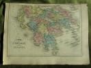 Carte-Map - L`Hellade Et`Du Péloponèse - Carte Géographique Anciene Atlas Delamarche 1873 - Carte Geographique