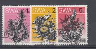 SWA USED MICHEL 389A/391A FLEURS BLOEMEN FLOWERS - South West Africa (1923-1990)