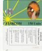UGANDA - Gru, STARCOM Green Card, First Issue 150 Units(reverse G), Used - Uganda