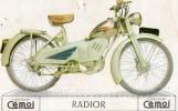 56Pr   Tacot Moto Radior Moteur N.S. U. 2 Temps Image Cartonnée Cemoi (12cm X 7.5cm) - Motos