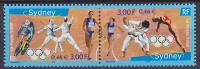 Diptyque Neuf ** N° 3340A(Yvert) France 2000 - JO Sydney - Unused Stamps