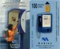 Telefonkarte Bulgarien - Mobika - Werbung - Junge On Phone   -  100 Units - Bulgarien