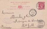 MALTA 1896 - 1 P Ganzsache, Pk Mit Mehreren Stempeln Gel.Cospicua - Malta - St.Gallen - Malta