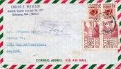 MEXICO 1955 - 2 X 80 + 2 X 30 Cts Auf LP-Brief V.Chihuahua - Bad Rothenfelde - Mexiko