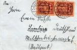 LETTLAND LATVIA 1931 - 2 Fach Frankierung + Werbevignette Auf Brief - Libau - Lüneburg - Lettland