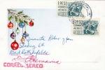 MEXICO 1962 - 2 X 1 Peso Auf LP-Weihnachtsgruß-Präge-Karte Gel.v.Chihuahua - Bad Rothenfelde - Mexiko