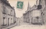 49 MAZE  Coin Du Village  Homme à VELO Dans La Grande Rue Maisons EGLISE Timbre 1922 - Zonder Classificatie