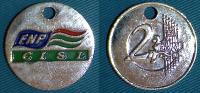 01368 GETTONE JETON TOKEN AMUSEMENT GETTONE CADDY F.N.P. CISL 2 EURO - Italie