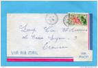 MARCOPHILIE--lettre Avion- Saint Pierre Et Miquelon-cad-1966 Stamp-N°362-Flower-cypripedium- - Lettres & Documents