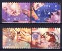 PAYS-BAS 1996 YT N° 1563 à 1566 Obl. - Period 1980-... (Beatrix)