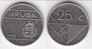 **** ARUBA - PAYS-BAS - NETHERLANDS - 25 CENTS 1993 **** EN ACHAT IMMEDIAT - [ 4] Colonies