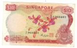 Singapore, 10 Dollar , Used ,   FREE SHIP. TO USA. - Singapore