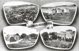 """Chambon-Feugerolles (Loire) - Multivues """"lunettes"""" - Château, Jardin Public, Cité La Romière - Edition Vial - Souvenir De..."""