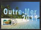 """Carte Maximum De 2011 """" 2011 : ANNEE DES OUTRE-MER """". N° YT Autoadhésif 639. Parfait état ! CM - Maximum Cards"""