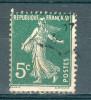 Collection FRANCE ; 1907-20 ; Type Semeuse Camée ; Y&T N° 137h (I) GC; Lot :  ;  Oblitéré - 1906-38 Semeuse Camée