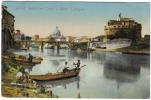 ROMA VEDUTA DEL TEVERE E CASTEL S. ANGELO VIAGGIATA 1911 COD.C 108 - Roma