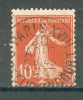 Collection FRANCE ; 1907-20 ; Type Semeuse Camée ; Y&T N° 138 ; Sans Queue Sous Le Q ; Lot :  ; Oblitéré - 1906-38 Semeuse Camée