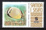 Samoa 1972-76 Wildlife Definitives - 5s Melon Butterfly Fish MNH - Samoa