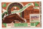 Billet Loterie Nationale Grand Prix De Paris 1956  Tiercé Hippisme - Loterijbiljetten