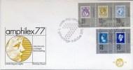 Nederland 1977, Pays Bas, Netherlands, Niederlande, Holland, Royal Family, FDC, Blanco, Amphilex '77, E152, Sc B522-6 - FDC
