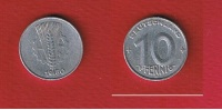 RDA  --  10  Pfennig 1950 E  --   KM # 3  --  état  TB  --   Rare - [ 6] 1949-1990 : GDR - German Dem. Rep.