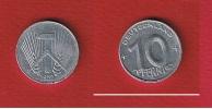 RDA  --  10  Pfennig 1952 E  --   KM # 7  --  état  TTB - Coups Tranches  --   Rare - [ 6] 1949-1990 : GDR - German Dem. Rep.