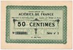 1919 // ACIERIES DE FRANCE // Cinquante Centimes / Série 2 - Bons & Nécessité