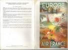 Menu , Europe , AIR FRANCE , BOEING 747 , Ancienne Affiche , 2 Scans , Frais Fr : 1.55€ - Menus