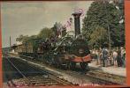 CPSM  Locomotive Crampton EN GARE DE COULOMIERS   Ligne De Morcenx-Tarbes,   (train Historique  OCT 2015 687 - Trains