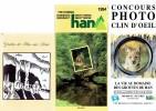Lot De 5 Anciens Dépliants Touristiques Sur Les Grottes De Han Sur Lesse (1994/95) - Toerisme
